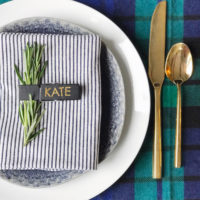 4 Easy Holiday Place Setting Ideas.