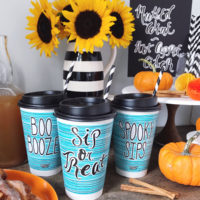 A Halloween Hot Beverage Bar.