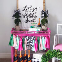 5 Easy Tips for Styling A Holiday Bar Cart.