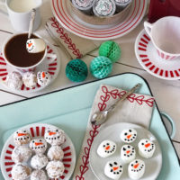 Holiday Coffee Bar and Snowman Sweet Treats.