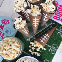 Football Popcorn Bar.