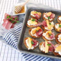 Peach and Prosciutto Toasts.