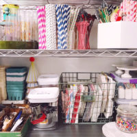 Pantry and Prop Closet Organization.