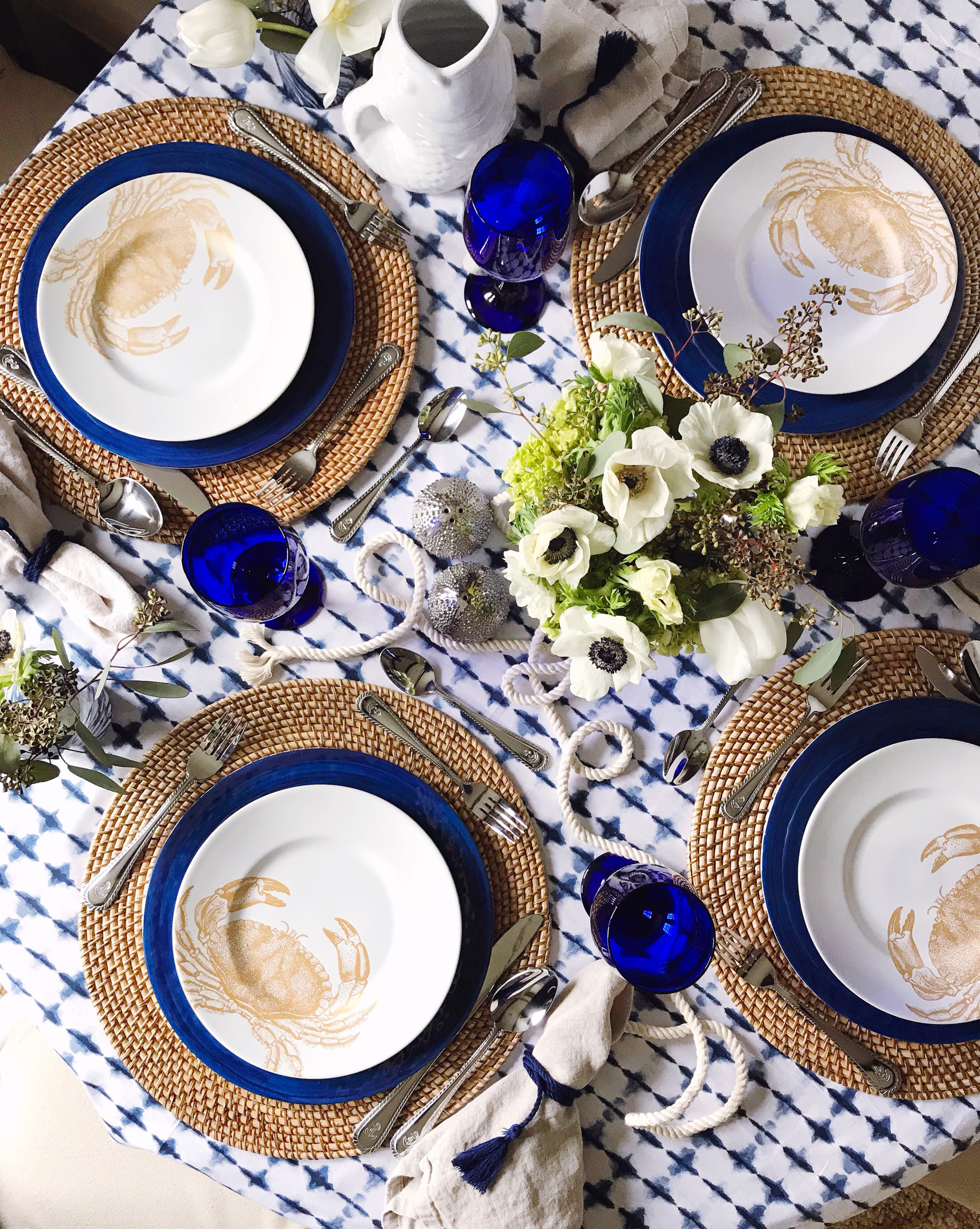 A Nautical Inspired Table Domestikatedlife