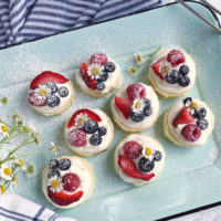 Mini Berry Mascarpone Cakes.