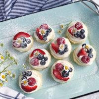 Mini Berry Mascarpone Cakes.