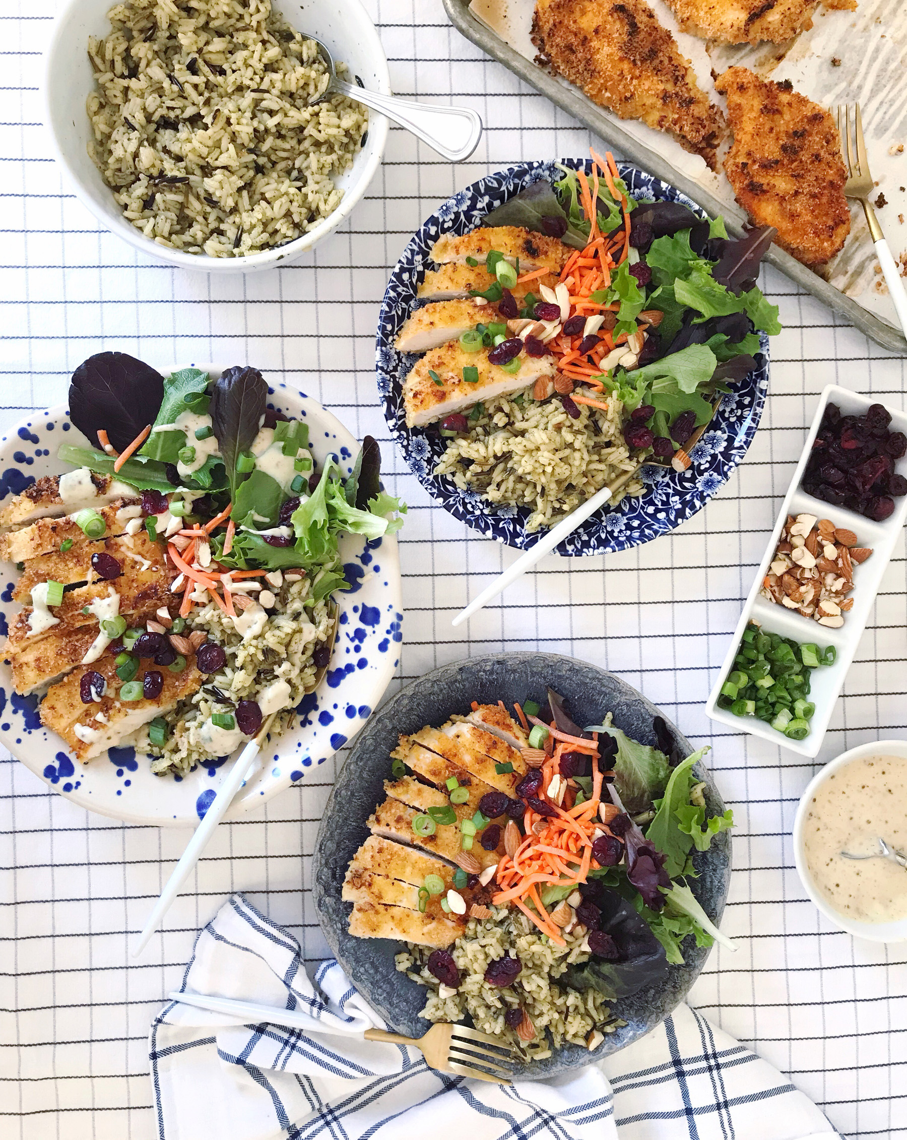 Honey Mustard Chicken And Wild Rice Bowls Domestikatedlife