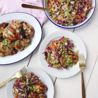 Sesame Ginger Chicken and Broccoli Slaw.