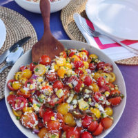 Summer Tomato and Grilled Corn Salad.