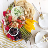 Yogurt Herb Dip and Mezze Platter.