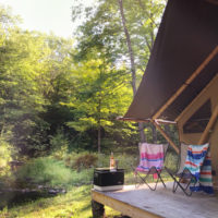 Family Glamping in New England.