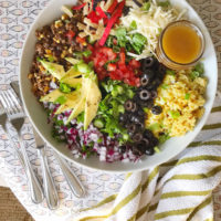 Taco Salad with Honey Lime Vinaigrette.