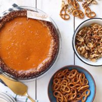 Walnut Pretzel Pumpkin Pie.