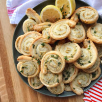 Garlic and Herb Crab Pinwheels.