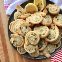 Garlic and Herb Crab Pinwheels.