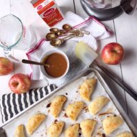 Apple Cheddar Hand Pies and Spiced Caramel Whipped Cream.