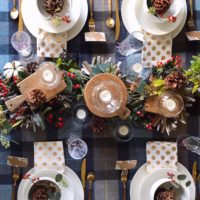 A Rustic Holiday Tablescape.