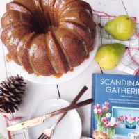 Spiced Pear Bundt Cake with Caramel Sauce.