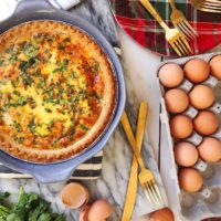 An Easy Crab Quiche for Holiday Brunches.