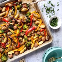 One-Pan Italian Sausage and Roasted Vegetables.