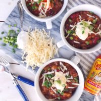 Easy Instant Pot Turkey Chili.