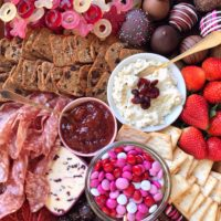 Valentine's Day Grazing Board.