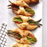 Asparagus Prosciutto Pastry Bundles.
