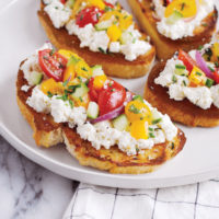 "Grilled ""Panzanella"" and Boursin Toasts."