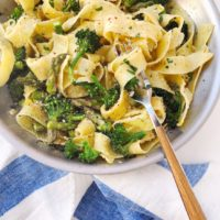 Pappardelle with Lemon, Asparagus and Broccolini.