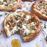 Goat Cheese and Walnut Tarts.