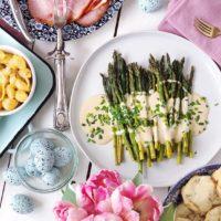 Roasted Asparagus and Creamy Dijon Sauce.