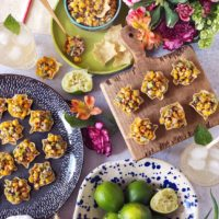 Fire Roasted Mexican Street Corn Bites.