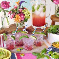 Sparkling Strawberry Basil Margarita.