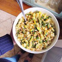 Zucchini Basil Pasta Salad.