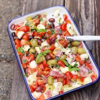 Herb Marinated Antipasto Salad.