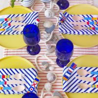 Nautical Flag Tablescape.