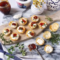 Cracked Pepper Cottage Cheese and Jam Filo Cups