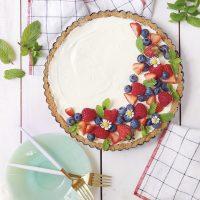 No-Bake Berry Cheesecake Tart.