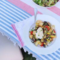 Sheet Pan Summer Veggie, Sausage, and Cauliflower Gnocchi.