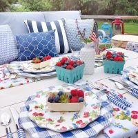 Patriotic Berry Summer Tablescape.