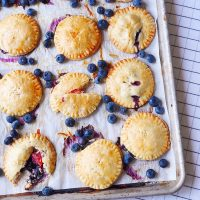 5-Ingredient Blueberry Peach Hand Pies.
