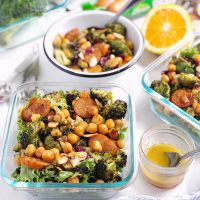 Broccoli, Chickpea, and Sausage Salad.