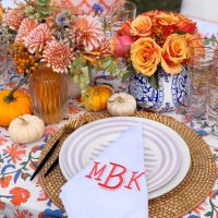 A Colorful Autumn Harvest Tablescape.
