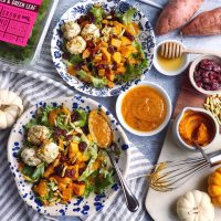 Harvest Salad with Creamy Pumpkin Vinaigrette.