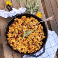 Sweet and Spicy Sausage Cornbread Stuffing.