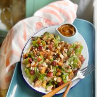 Winter Salad with Pear Vinaigrette.