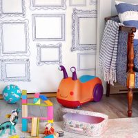 A Playroom Update with Removable Wallpaper.