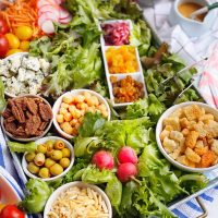 DIY Salad Bar Grazing Board.