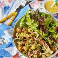 French Potato and Greens Salad.
