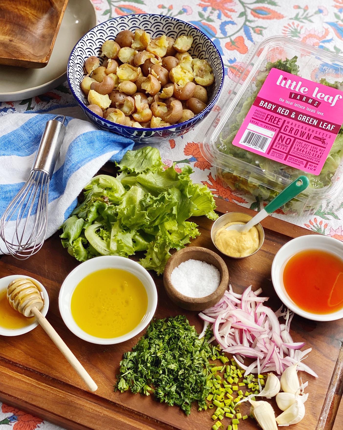 French Potato And Greens Salad Domestikatedlife